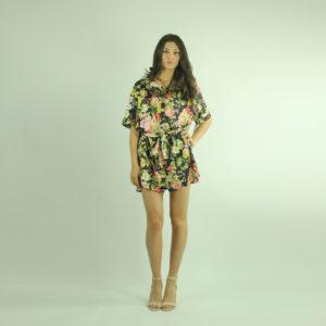 Camicione a fantasia floreale INVERSO accessori pronto moda abbigliamento firmato giovane elegante donna costumi beach beachwear bikini abbigliamento donna primavera-estate inverso fashion concept