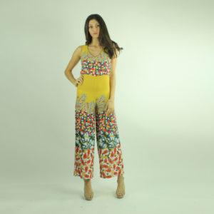 Tuta gialla con stampa floreale INVERSO accessori pronto moda abbigliamento firmato giovane elegante donna costumi beach beachwear bikini abbigliamento donna primavera-estate inverso fashion concept