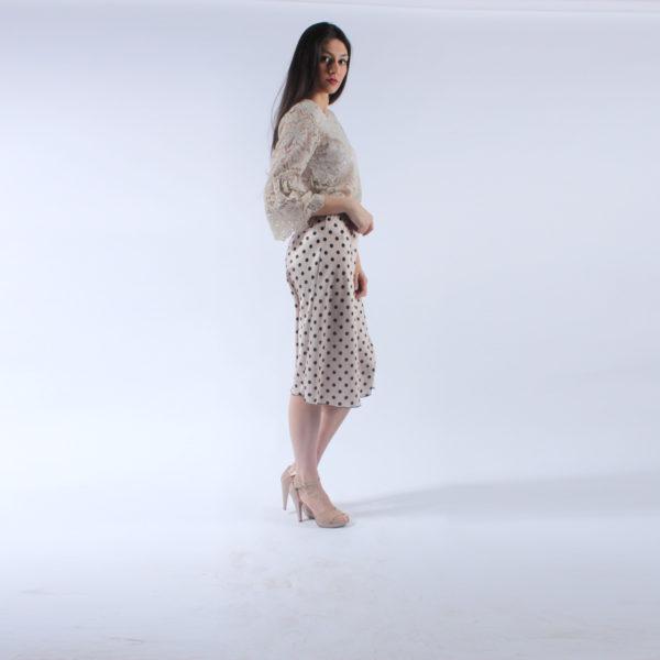 """Gonna a pois """"INVERSO"""" abbigliamento femminile donna emilia romagna stagione primavera estate nuova collezione"""