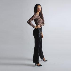 """Pantaloni paillettes """"INVERSO"""" abbigliamento femminile donna emilia romagna stagione autunno inverno nuova collezione"""
