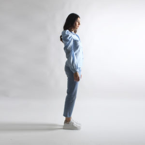 """Camicia con maniche a sbuffo """"INVERSO"""" abbigliamento femminile donna emilia romagna stagione primavera estate 2020 nuova collezione"""